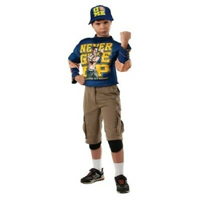£21.50 • Buy Wwf Jonh Cena Never Give Up Muscle Halloween Cosplay Costume New Sz Med 8-10