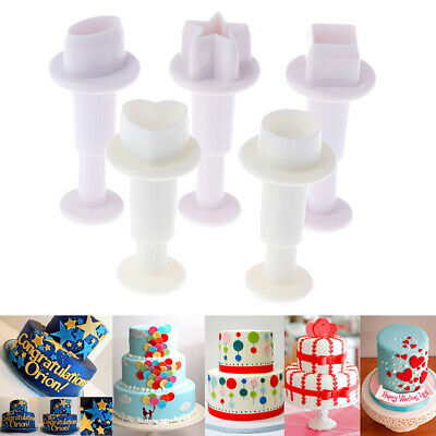 Xmas Fondant Cake Cutter Plunger Cookie Mold Sugarcraft Flower Decorating Mou WS • 3.02£