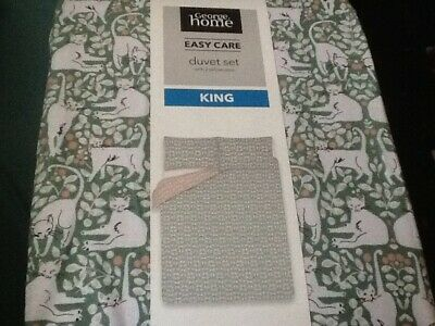Cats Duvet Cover Set King Size George Home Asda New Last One • 19.99£