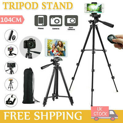 Universal Tripod Stand Telescopic Camera Phone Holder For IPhone Samsung Live UK • 6.99£