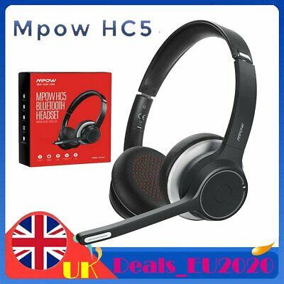 Wireless Bluetooth Headphones Noise Cancelling Over Ear With Microphone Headsets • 34.59£