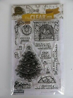 *NEW* Hero Art (Limited Edition) Clear Stamps 'FROM THE VAULT HOME SCENE' (xmas) • 6.95£