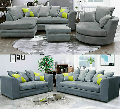 New Cato Sofa Modern Plush Velvet Fabric 3 & 2 Seater / Corner Suites • 389.99£