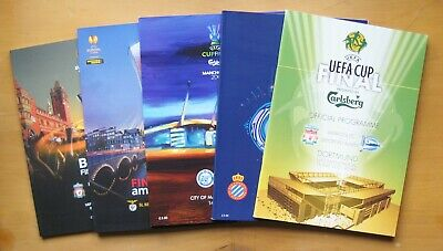 £16.24 • Buy UEFA Cup Final Football Programme Collection X 5: 2001 2007 2008 2013 2016