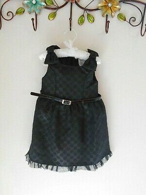 Aphorism-size 3t  Black With Polka Dot Design Ruffle Dress For Girls • 7.23£