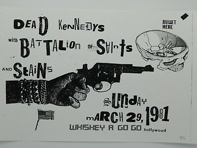 $14.95 • Buy Dead Kennedys Battalion Of Saints The Whiskey Classic 1981 Punk Concert Poster