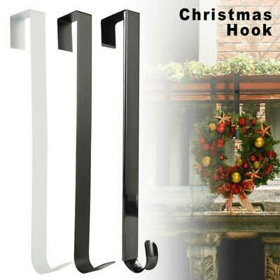 Metal Over Door 38cm Christmas Wreath Door Hanger Xmas Decoration Hook #GF01 • 6.29£