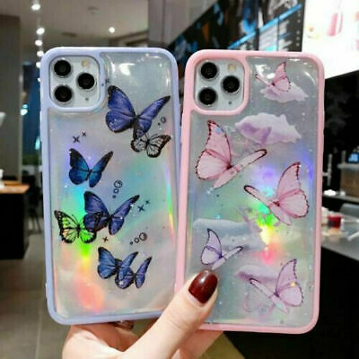 AU10.99 • Buy Bling Glitter Butterfly Case Shockprof Cover For IPhone 12 Pro XS Max  XR 8 Plus