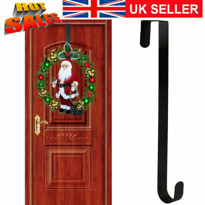 Metal Over Door 31/38cm Christmas Wreath Door Hanger Secure Xmas Hook #GF01 • 4.65£