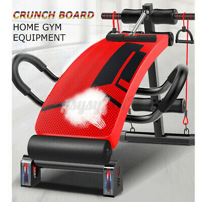 UK Folding Sit Up Bench Ab Crunch Exercise Bench Decline Fitness Workout Home • 57£