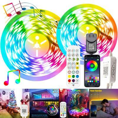 AU29.57 • Buy RGB LED Strip Lights Waterproof 5050 SMD APP Bluetooth Controller Adapter 1-30m