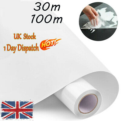 6/30M Clear Vinyl Application Tape For Car Wall Craft Art Decal Transfer Paper✔✔ • 15.99£