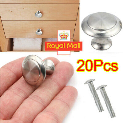 Chrome Door Knobs Handles Cabinet Cupboard Drawer Kitchen Stainless Steel Set • 1.99£