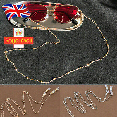 Glasses Sunglasses Chain Holder Gold Silver Lanyard Necklace Neck Cord String UK • 1.19£