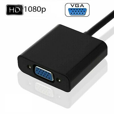 HDMI Male To VGA Female HDMI IN- SVGA OUT Converter Cable Adapter For PC DVD TV • 2.50£