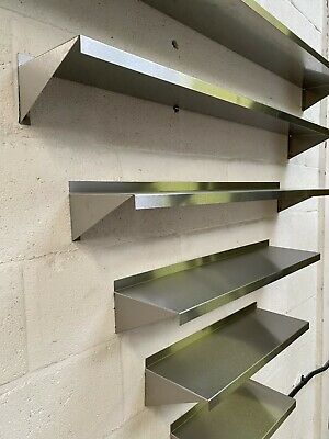 Shelves Commercial Kitchen Clean Wall Shelf Brushed Stainless Steel - 200mm Deep • 52.79£