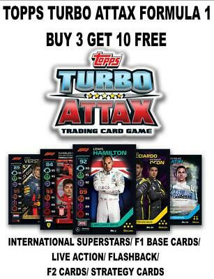 Topps Turbo Attax F1 Formula 1 2020  - Base Cards #1 - #141 Buy 3 Get 10 Free • 0.99£
