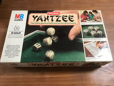 YAHTZEE BOARD GAME Original 1982 Issue MB Games • 12.95£
