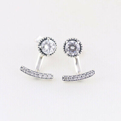 Genuine Pandora Silver Abstract Elegance Drop Stud Earrings - 290743CZ UK  • 17.49£