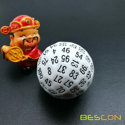 AU22.34 • Buy Bescon Polyhedral Dice 100 Sides Dice, D100 Game Dice,100-Sided Cube White Color
