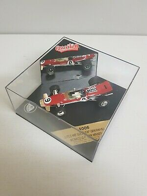 1:43 Quartzo #Q4006 Graham Hill Lotus 49B 'Gold Leaf'  Monaco GP 1968   C/208 • 9.99£