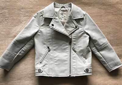 CREAM FAUX LEATHER JACKET By  RIVER ISLAND  ~ AGE 12-18 MONTHS • 6£