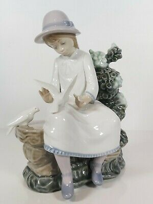 Nao By Lladro Figurine   Feasting Doves  #383, 1992 Appr.21cm Tall  • 59£