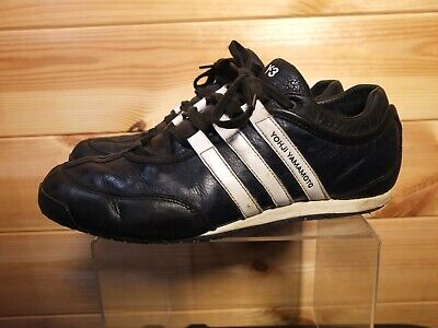 Men's Y3 Blue Black Leather Trainers UK 7 - Y3 Boxing Trainer Adidas • 27.99£
