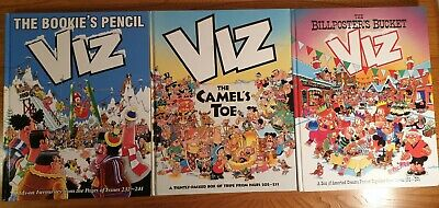 The Viz Annual Collection The Bookies Pencil, Billposters Bucket, The Camels Toe • 4.95£