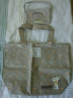 New SNOOPY & WOODSTOCK Tote Bag And Small Bag Set • 18.99£