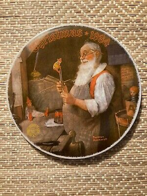 $ CDN6.51 • Buy Norman Rockwell Christmas 1984  Special Edition Plates Santa In His Workshop