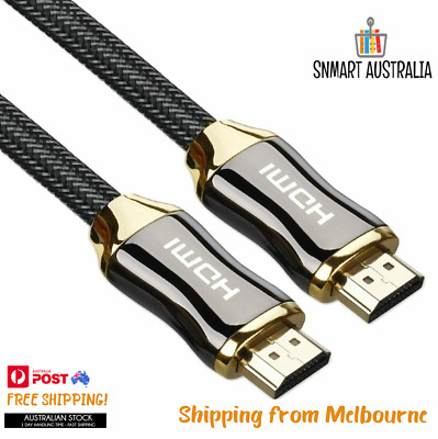 AU7.50 • Buy Premium Gold Plated HDMI To HDMI Cable Ultra HD 4K V2.0 High Speed1m2m 3m 5m 10m