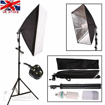 Photog Studio Video Softbox Soft Box Light Lamp Stand Continuous Lighting Set  • 16.06£