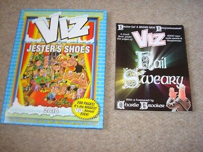 2 X VIZ Books Hail Sweary & The Jester's Shoes Annual 2018 Excellent Condition • 6.95£