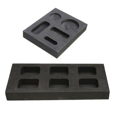 2x High Purity Graphite Ingot Mold Melting Casting Mould For Gold Silver Metal • 18.37£