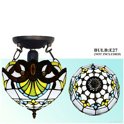 Tiffany Dragonfly Style Hand Crafted Glass Table /Desk/Bedside Lamps UK • 46£
