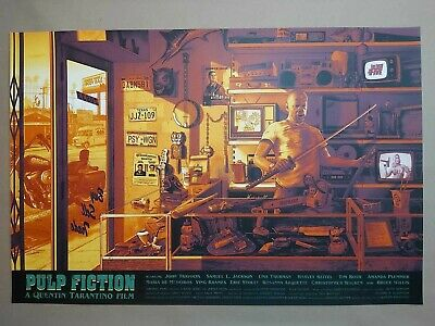 Pulp Fiction -  Regular Screen Print Poster - By Kevin M.Wilson - Nt Mondo • 95£