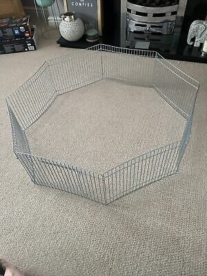 8 Panel Indoor Outdoor Small Animal Play Pen Run • 6.50£