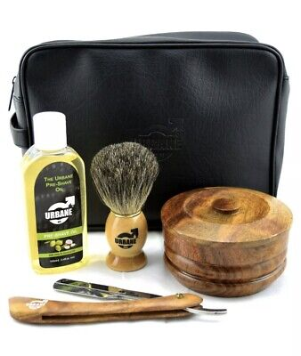 Urbane Men Traditional Shaving Complete Kit Gift Set - With Shaving Bowl, Soap, • 14£