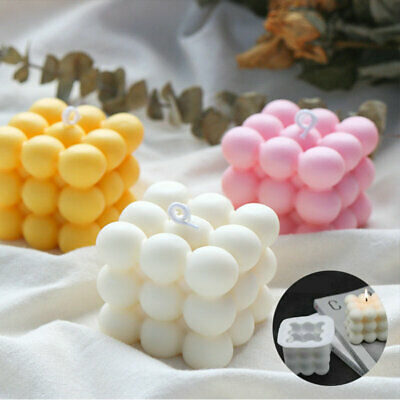 Wax Candle Mould DIY Soy Soap 3D Silicone Aromatherapy Candle  Plaster Mold • 3.05£