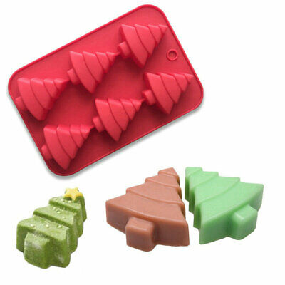 £4.31 • Buy Christmas Tree Mold Silicone Chocolate Cake Ice Tray Wax Baking Mould Soap Jelly