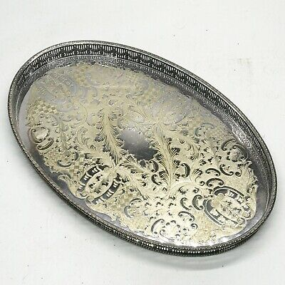 £49.99 • Buy Vintage Silver Plated Tray Chased Viners Of Sheffield