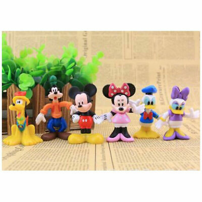 Mickey Mouse Set Of 6 Figures Toy Cake Toppers Minnie Donald Duck Daisy Goofy • 6.99£