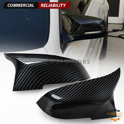 $39.98 • Buy Carbon Fiber M5 Style Side Mirror Cover Cap For BMW F10 F11 F18 F01 LCI 2014-18