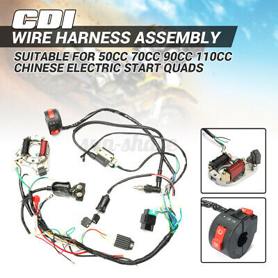 $31.64 • Buy 50 70 90 110 125cc Cdi Wire Wiring Harness Stator Assembly Atv Electric Quad