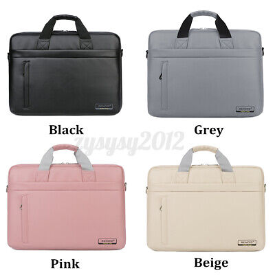 Lady Leather 15.6'' Laptop Handbag Waterproof Briefcase Travel Shoulder Bag Gift • 19.37£