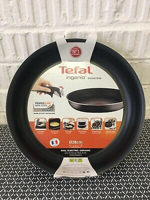Tefal Ingenio Essential Non-stick Frying Pan, 28 Cm - Black • 23£