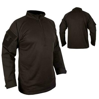 Kombat UBACS Shirt Fleece Body Black Airsoft Tactical Top Military Style  • 23.99£