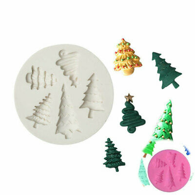 £3.02 • Buy CHRISTMAS TREE Mould Silicone Cake Topper Fondant Mold Chocolate Candy Baking