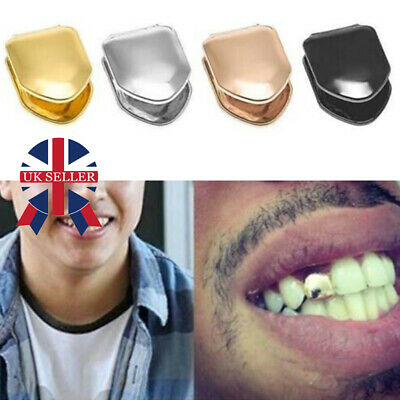 Comfort Custom Gold Plated Small Single Tooth Cap Grillz Hip Hop Teeth Grill F • 2.99£
